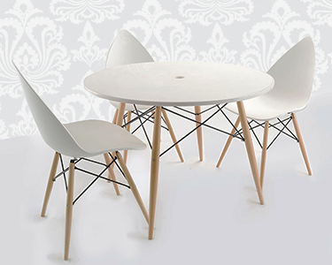 Mesa de Jantar Tower Wood   Design de Vanguarda