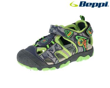 Sandália Casual Beppi®   Azul Marinho e Verde