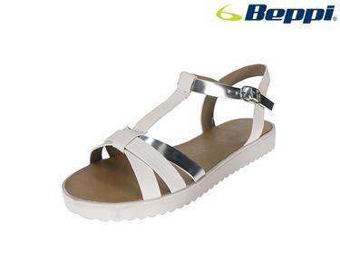 Sandálias Beppi® | Branco e Prateado