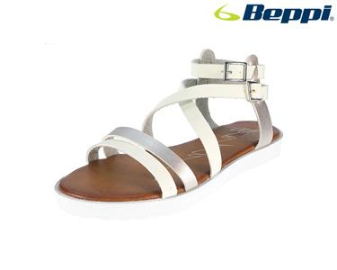 Sandálias Casuais Beppi® | Branco e Prateado