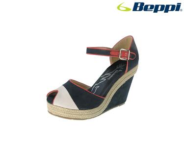 Sandálias Casuais com Cunha Beppi® | Azul Marinho
