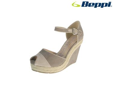 Sandálias Casuais com Cunha Beppi® | Bege