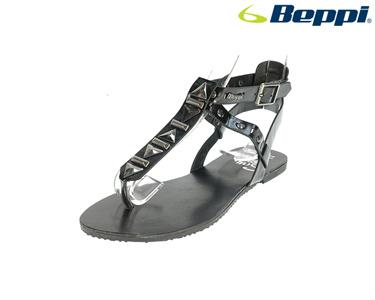 Sandálias Casuais com Tachas Beppi® | Preto