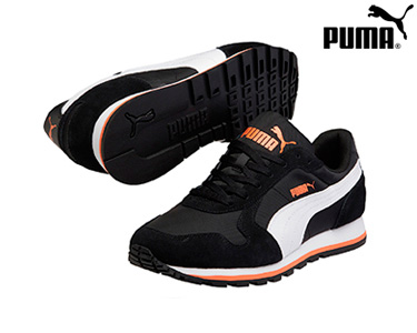 Ténis Puma® St Runner Preto e Branco | Homem