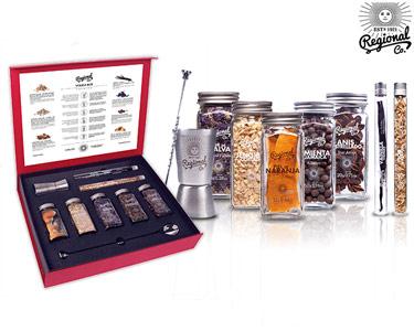 Vodka Box Premium | Colher + Copo Doseador + 7 Botânicos