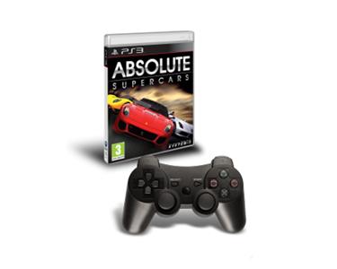 Jogo PS3 Absolute SuperCars + Comando