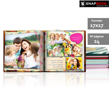 Álbum Fotográfico 24 Páginas | Capa Dura e Personalizada 17 x 17cm