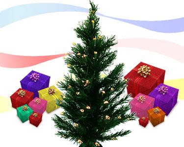 Árvore de Natal | Com Luzes de Várias Cores!