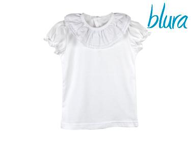 T-shirt Branca Blura® c/ Gola Dupla | 1 Ano