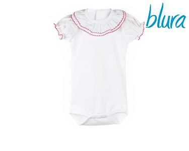 Body Branco Blura® c/ Gola Vermelha | Escolha o Tamanho