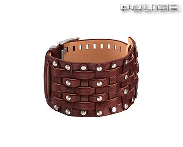 Pulseira Gladiador Police® | Pele Castanha