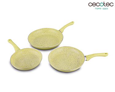 Conjunto de Frigideiras Amarelas em Granito | Cecotec®