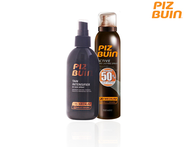 Pack Piz Buin Tan Intensifier Spray Bronzeador SPF15 + Spray SPF20