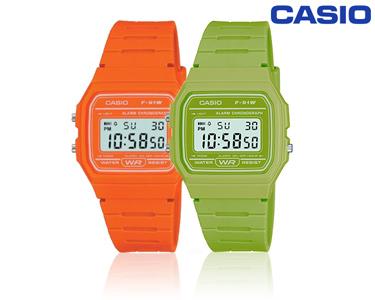 Relógio Casio® Retro Colorido