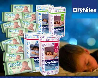 Fraldas Drynites+ Toalhitas Huggies®