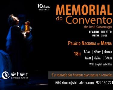 «Memorial do Convento» no Palco do Palácio Nacional de Mafra