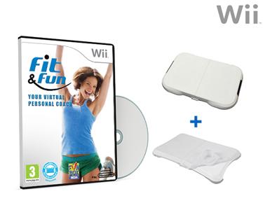 Crown Balance Board + Jogo Fit&Fun + Protecção de Silicone | Wii&Wiiu