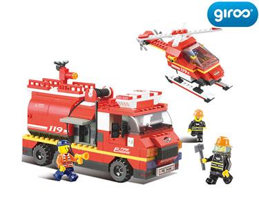 Fire Alarm Camião + Helicóptero | 409 Peças