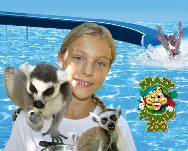 Entrada no Krazy World Zoo - 1 Dia para Viver a 100%