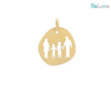 Medalha Be Love Prata Dourada | Família e Meninos
