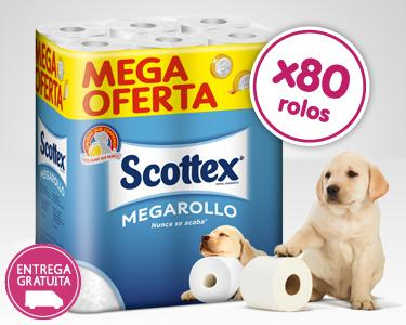 80 Megarolos Papel Higiénico Scottex