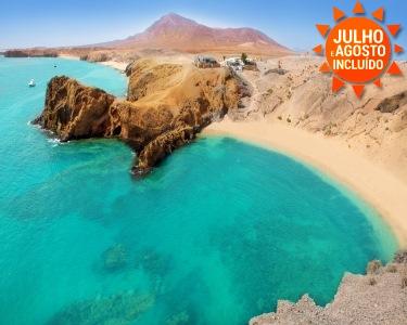 Verão em Lanzarote   Voos + 7 Noites    1ª Criança Grátis
