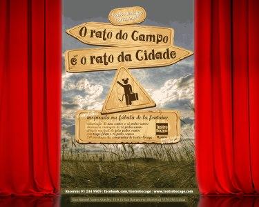 Entrada para 2 Pessoas «O Rato do Campo e o Rato da Cidade» | Teatro Bocage - Lisboa