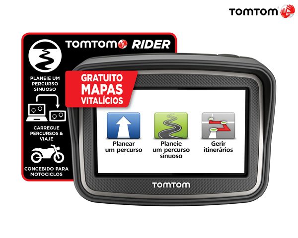 TomTom Rider Premium Pack Europa   45 Mapas Vitalícios