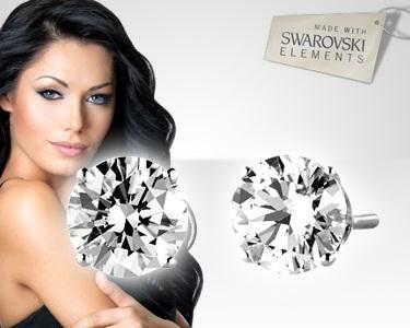 Brincos Swarovski Elements 6mm