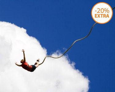 Bungee-Jumping   Explosão de Adrenalina! 1 ou 2 Pessoas - Almada
