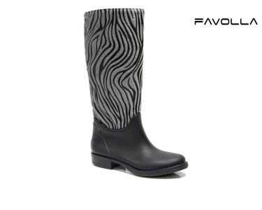 Botas Favolla® Texas | Padrão Zebra Cinza