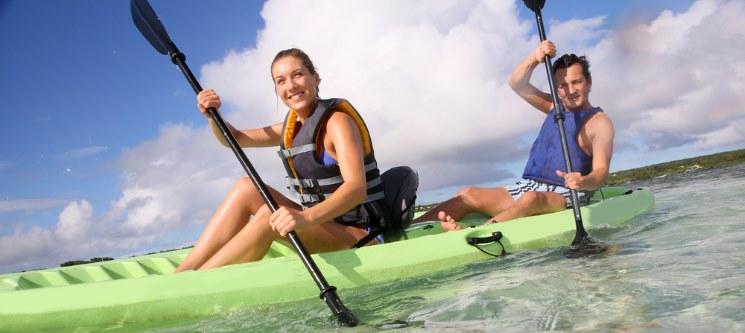 Passeio de Kayak na Lagoa de Óbidos para Dois ou em Família | 1 Hora de Diversão!
