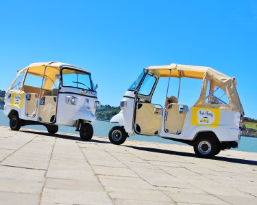 De Tuk Tuk Pelos Miradouros de Lisboa - 1 Hora! Até 3 Pessoas | Tuk Away