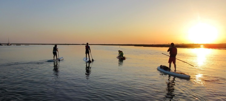 Algarve Sunset! Passeio de Stand-Up Paddle na Ria Formosa   2h - 1 ou 2 Pessoas