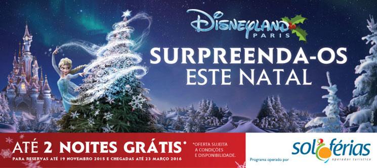Disneyland Paris®   Natal Frozen   Até 2 Noites Grátis   Com Voo