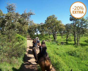 Passeio a Cavalo no Alentejo   2 Pessoas   1h ou 3h a Passo, Trote e Galope!