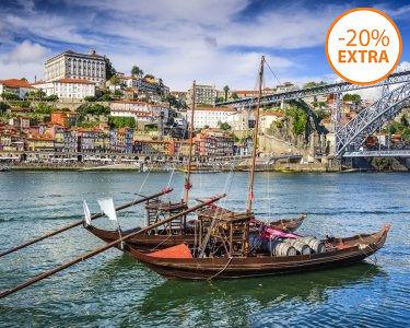 Cruzeiro das 6 Pontes do Douro em Barco Rabelo para Dois | 50 Min.