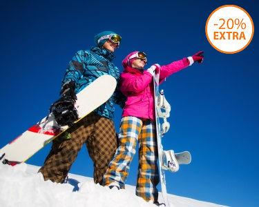 Para Dois: Aula de Ski ou Snowboard - 1h   Skiparque - Serra da Estrela